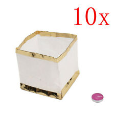10x Chinese Square Paper Wishing Wedding Floating Water River Candle Lanterns