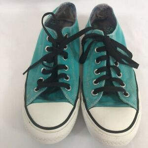 Converse All Star Women's Sneakers Shoes Teal Blue 544970F Low Top Lace Up 9