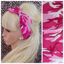 Nouveau Rose Army Camo Camouflage Coton Bandana Tête Cheveux Foulard urban PIN UP