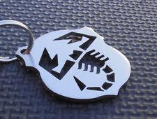 ABARTH keyring FIAT 500 1000 TC 595 PUNTO 131 124 SPIDER CROMODORA emblem badge