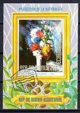 Fleurs - Guinée Equatoriale (127) bloc oblitéré