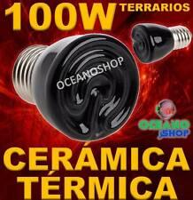 LAMPARA 100W BOMBILLA 99% CALOR CERAMICA TERMICA REPTIL terrario TORTUGA pajaro