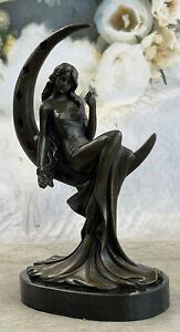 Elegant Moreau Nude Young Woman Female Bronze Marble Figure Sculpture Statue