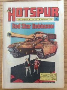 The Hotspur #747 9/2/74 Red Star Robinson Son Of The Sword DC Thompson UK Comic