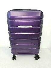 """Samsonite Tech 2.0 Polycarbonate Hard Case 22"""" Carry On Spinner Luggage Purple"""