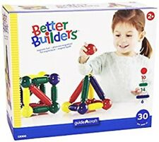 Guidecrafts Better Builders Educational Magnetic Fun! 30 Pieces, Age 2+