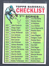 1964 Topps #517 Checklist 7th Series Error Incorrect Sequence Back NM Plus