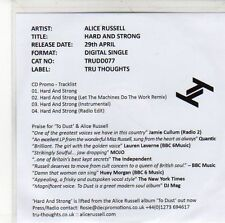 (EE361) Alice Russell, Hard And Strong - 2013 DJ CD