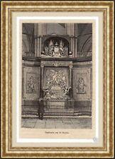 Antique print graftombe Michiel de Ruyter Amsterdam tomb