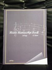 NEW PREMIER A4 BLANK MUSIC MANUSCRIPT BOOK 12 STAVES PER PAGE 24 PAGES