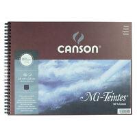 Canson Mi-Teintes Pastel Pad Spiral 24x32cm 16 Sheets Black