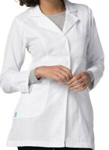 """Scrubs ADAR Universal Unisex Perfection Consultatio Lab Coat 32"""" 811 White  L"""