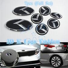 3D K Speed Emblem Badge 7pcs/Set (Grille Trunk Steering Wheel 4 Rims) For Kia K5