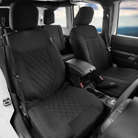 Front Bucket Seat Covers Pair Neosupreme For Auto Car SUV Black