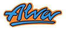 Alva Skates OG Logo Skateboard Sticker Official Old School Reissue Blue/Orange