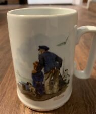 """Norman Rockwell mug """"Looking Out To Sea�"""