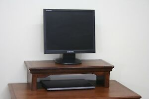 TV Riser Stand Traditional Alder Style in Mocha Finish