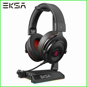 Headphones Stand 7.1Surround Gaming Headset Holder RGB with 2 USB and 3.5 ports