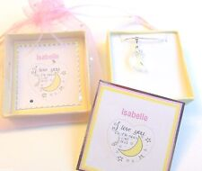 """""""I Love you to the Moon and Back"""" Swarovski Crystal Elements Moon Necklace"""