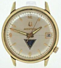 Vintage 1975 Bulova Accutron 218 1 Tuning Fork Men's Award Watch 10k RGP