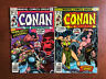 Conan The Barbarian #81 82 (1977) 5.5 VG Marvel Key Issue Bronze Age Comic Book