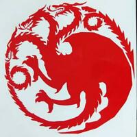 Game of Thrones Three Headed Dragon House Targaryen Sigil Vinyl Decal for Car, H