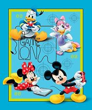 Disney Micky & Friends Game Over - Craft Quilt Cot Panel- Springs Cotton Fabric