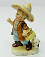VTG Lefton's Ceramic August Birthday Boy Figurine Japan