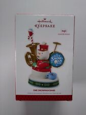 "Hallmark Ornament   -  ""'ONE SNOWMAN BAND""  -   2013 - NIB"