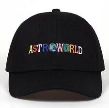 Travis Scott Astroworld Black Baseball Cap Hat UK Seller New
