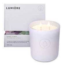 Lumiere White Sanctuary Candle - Green Tea, Lotus & Jasmine