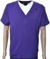 G-Star Patternless V Neck T-Shirts for Men