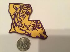 "LSU TIGERS vintage iron on embroidered patch 3"" x 3"""