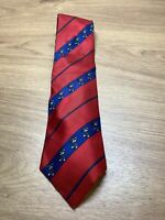 Disney Mickey Mouse Tie Collectable Mens Golf Golfing Sports Novelty Red Blue