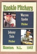 Warren Spahn/Johnny Sain '42 Boston Braves The Rookies series #4