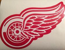 """Detroit Red Wings Decal 7.5x10"""" 2 Color Vinyl Decal**FREE SHIPPING**"""