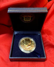 1989 GOLD PLATED KENNEDY HALF DOLLAR ... World Reserve ... In Box