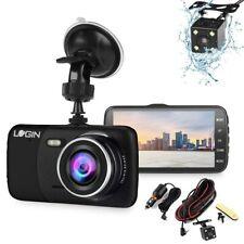 1080p G-Sensor 4 in Car DVR Dash Cams Camera Front Rear Video Recorder HD Black