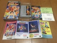 STREET FIGHTER II TURBO Japan Super Famicom SNES BOX and Manual