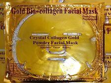Gold Bio-Collagen Facial Face Mask x 5pcs + Anti-Aging eye mask x 5pcs free