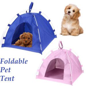 Portable Folding Dog Pet House Bed Tent Waterproof Pet Cat Indoor Outdoor Teepee