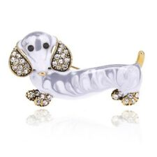 Vintage Fashion Dog Pins Cute Animals Enamel Insect Dog Brooches For Women