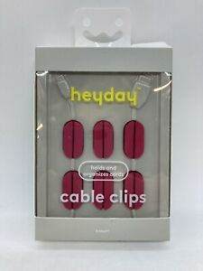 Heyday 6 pack Silicone Cable Clips Holds & Organizes Cords