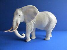 More details for vintage ivory ceramic elephant ornament 24k gold plated. by lenox. large