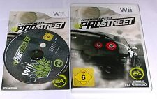 "Nintendo Wii juego ""Need for Speed Pro Street"" completamente"