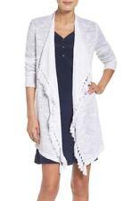 Lilly Pulitzer Lucita Open Fringe Cardigan Sweater Resort White Size M NWT