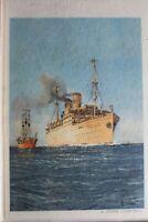 """AK Deutschland Norwegenreise der D. """"Sierra Cordoba"""" 1939 ungebraucht #PF026"""