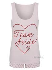 TEAM BRIDE PYJAMAS PJS Vest & Shorts Wedding Bridesmaid Hen Party George 8-22