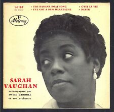 JAZZ SARAH VAUGHAN RARE 45T EP MERCURY 14.187 The Banana Boat Song