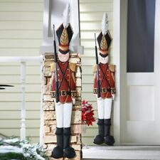 Old-Fashioned Holiday Tin Soldier Christmas Metal Fence House Decoration